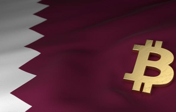 Picture blur, flag, flag, qatar, bitcoin, bitcoin, btc, Qatar