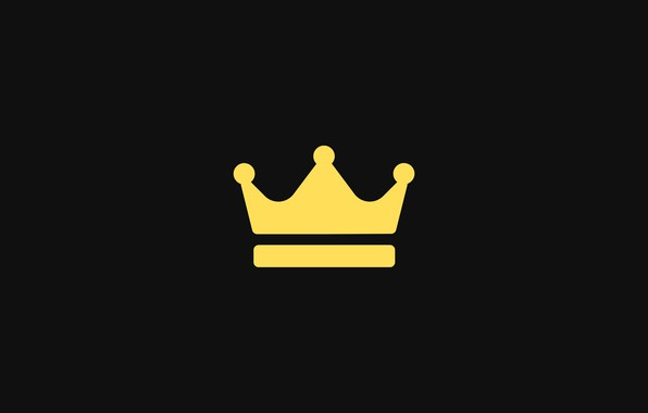 Picture background, black, minimalism, crown