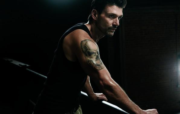 Picture look, pose, the series, bristles, tattoo, Kingdom, Kingdom, skull tattoo, Frank Grillo, Frank Grillo, Alvi …