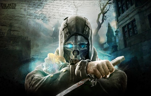 Picture city, the city, street, the game, mask, art, blade, action, Dishonored, Arkane Studios, stealth-action, the …