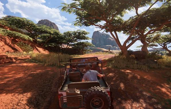 Picture jeep, Madagascar, Sally, Naughty Dog, Playstation 4, Uncharted 4, Sam Drake, Nathan Drake