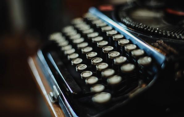 Picture macro, background, typewriter