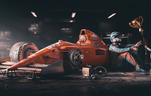 Picture Red, People, Sport, Child, Ball, Racer, Formula 1, Ferrari, Red, Garage, Car, The car, Ball, …
