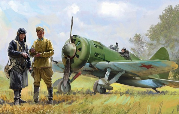 Picture USSR, pilots, -16, Air Force of the red army