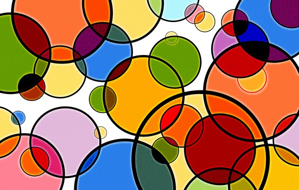 Picture circles, colorful, figure