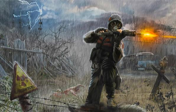 Picture Stalker, Art, Rain, Soldier