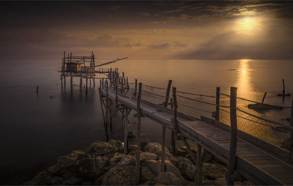 Picture dawn, coast, morning, Italy, pierce, Abruzzo