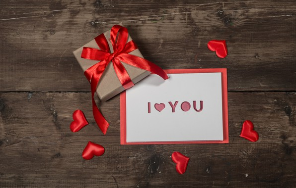 Picture love, gift, heart, hearts, red, love, heart, wood, romantic, valentine's day, I love You