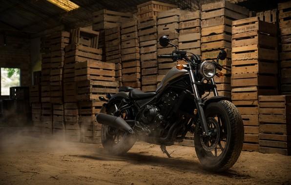Picture motorcycle, Honda, Honda, 2018, cruiser, Honda Rebel 500