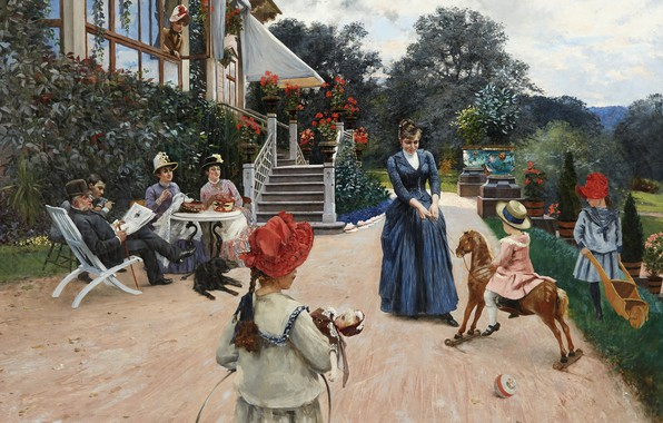 Picture 1886, Swedish artist, Swedish painter, Hugo Birger, Hugo Birger, Ekebacken, Ekebacken