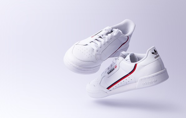 Picture White, Background, Adidas, sneakers