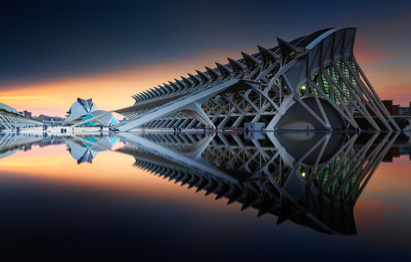 Picture architecture, Spain, complex, Valencia, The city of arts and Sciences