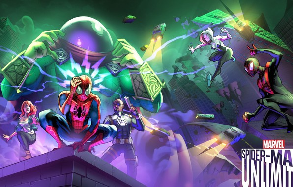Picture game, android, Marvel, IOS, spider-man unlimited, spider-verse, Gameloft