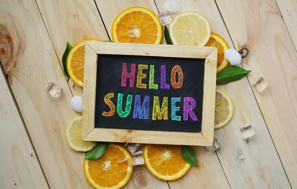 Picture lemon, orange, lemon, summer, fruit, fruit, orange, citrus, hello, slice