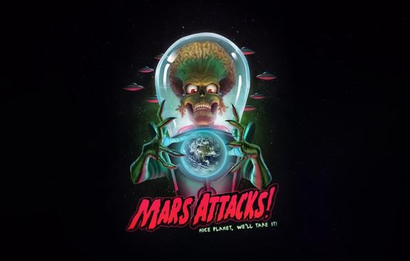 Picture UFO, Figure, Art, Space, Art, Alien, Illustration, Mars Attacks, Mars attacks!, by Guilherme Freitas, Guilherme …
