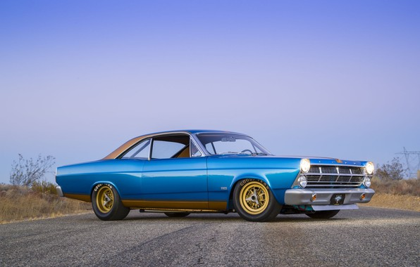 Picture Ford, Blue, 1967, 427, Fairlane, American muscle car