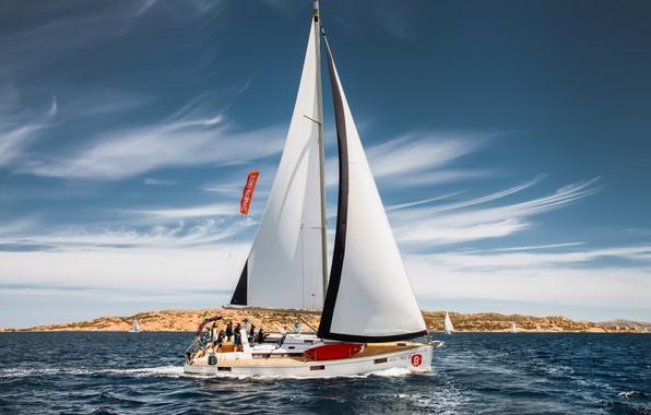 Picture sea, yacht, regatta, Anastasia Kolesnikova