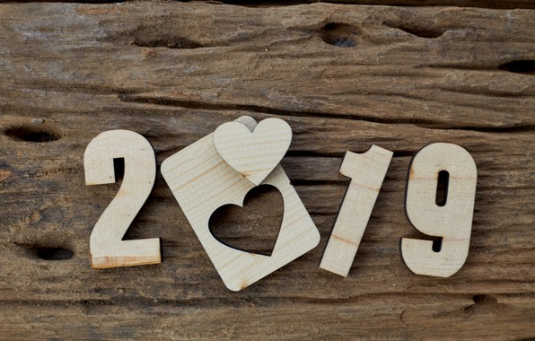 Picture background, tree, Board, heart, wood, texture, background, wooden, 2019