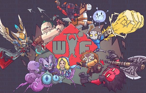 Picture axe, figure, dota, art, wtf, juggernaut, dota 2, pudge, sven, crystal maiden, chaos knight, wisp, …