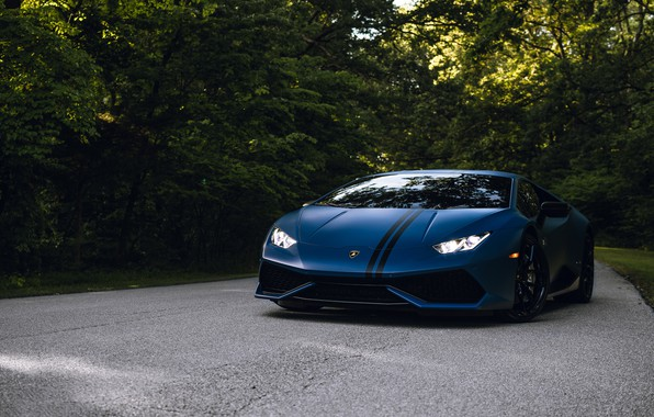 Picture Lamborghini, Road, Edition, Forest, Huracan, Avio