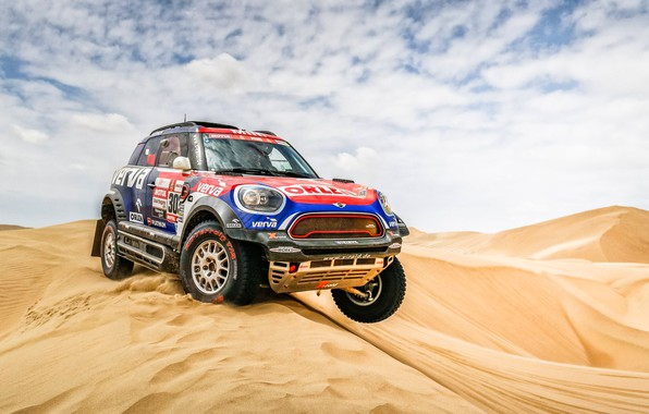 Picture Sand, Auto, Mini, Sport, Desert, Machine, Race, Car, Rally, Dakar, Dakar, SUV, Rally, Dune, X-Raid …