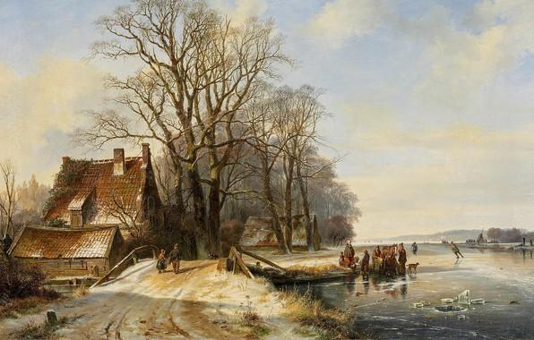 Picture Danish painter, 1844, Danish painter, oil on canvas, Frans Arnold Breuhaus de Groot, Frans Arnold …