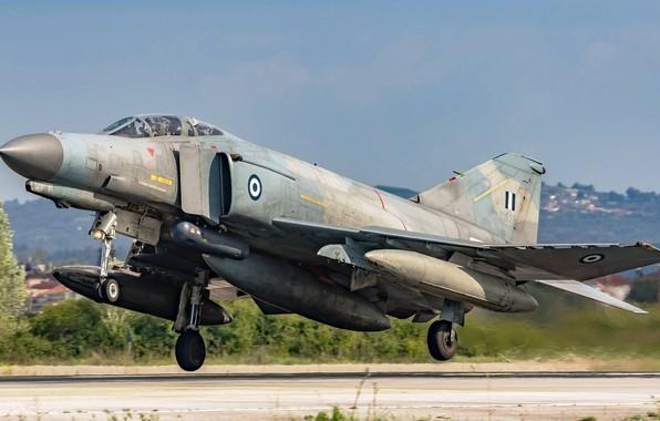 Picture Fighter, Landing, F-4 Phantom II, Chassis, McDonnell Douglas F-4 Phantom II, Greek air force, Hellenic …