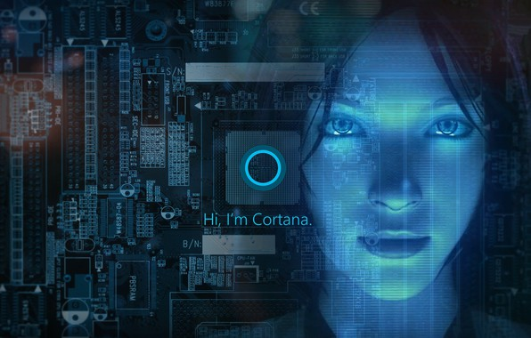 Picture girl, windows, Cortana, Windows 10