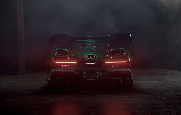 Picture McLaren, supercar, rear view, 2018, Senna, MSO, Fux Green