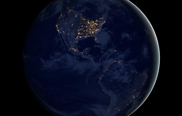 Picture darkness, diamonds, America, lights