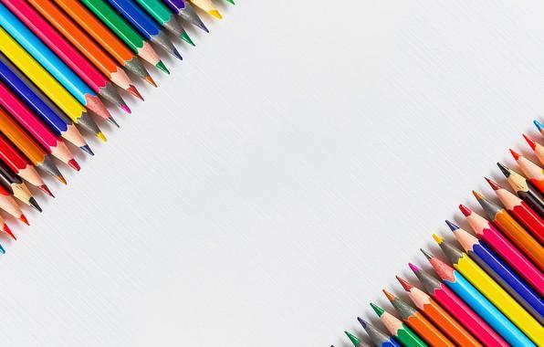 Picture colored, pencils, school