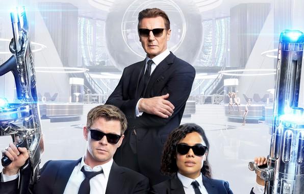 Picture Chris Hemsworth, Chris Hemsworth, Liam Neeson, Tessa Thompson, Men in black: international, Men In Black: …