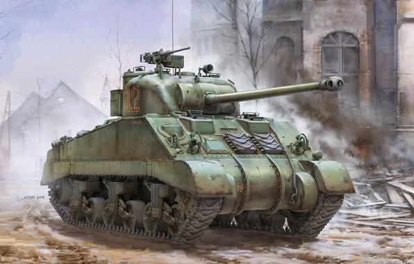 Picture Tank, Sherman, British Army, Sherman Firefly Vc, British Sherman