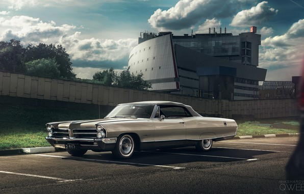 Picture Retro, Machine, Pontiac, Bonneville, Mikhail Sharov, Transport & Vehicles, by Mikhail Sharov, Pontiac Bonneville 1965, ...