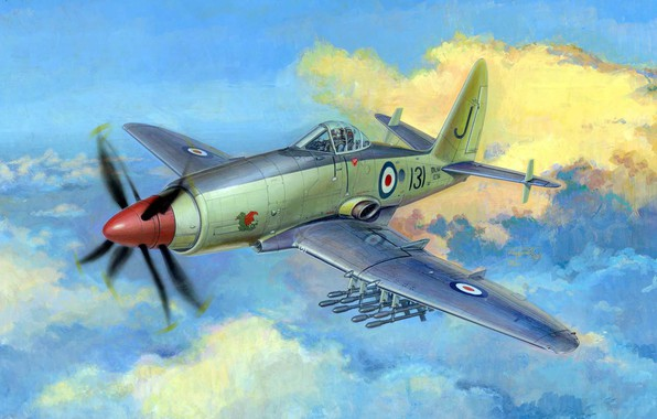 Picture the plane, Attack, Royal Navy, Westland Wyvern, combat aircraft