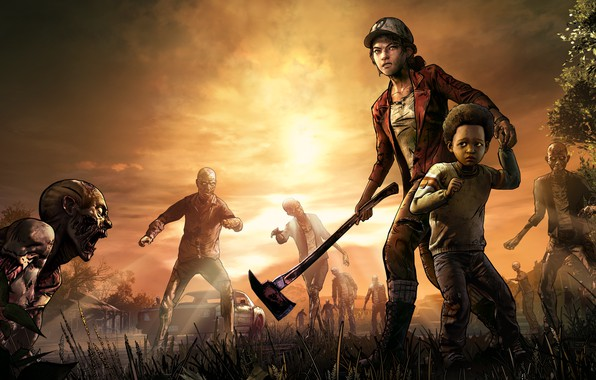 Picture Axe, Zombies, The situation, The Walking Dead, Telltale Games, Survivors, Clementine, Clementine, The Walking Dead: …