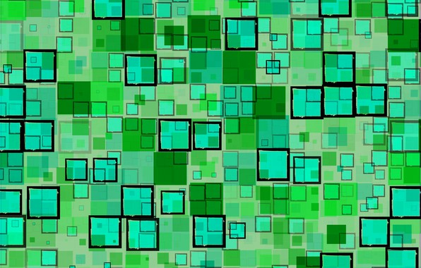 Picture abstraction, green, background, black, texture, geometry