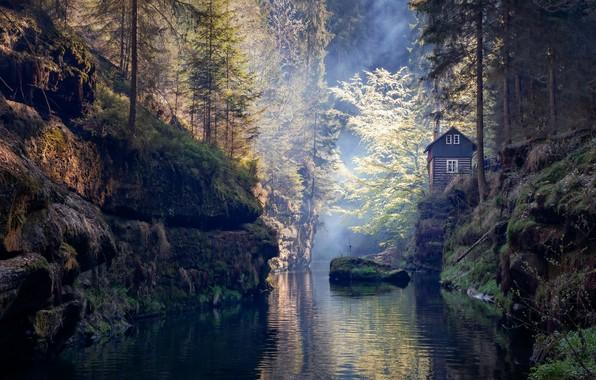 Picture Bohemian Rhapsody, Czech republic, Czechia, The ústí nad labem region, Janov, Bohemian Switzerland