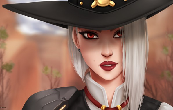 Picture Girl, Disaster, Face, Eyes, Blizzard, Art, Game, Ashe, Overwatch, Calamity, Game Art, Elizabeth Caledonia Ashe, …