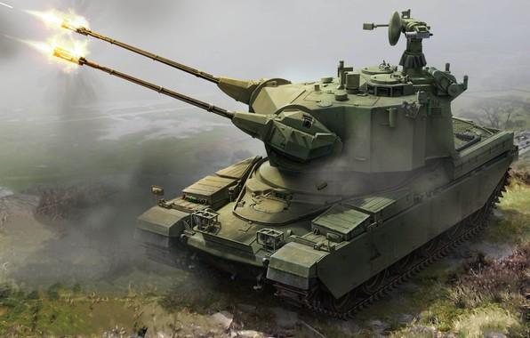 Picture war machine, APU, Defense, Antiaircraft self-propelled installation, Marksman