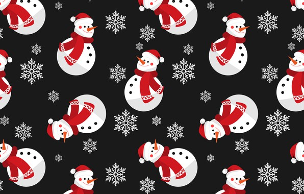 Picture decoration, background, New Year, Christmas, snowman, Christmas, winter, background, pattern, New Year, snowman, decoration, xmas, ...