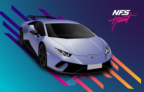 Picture Lamborghini, NFS, Electronic Arts, Need For Speed, Performante, Huracan, game art, 2019, Need For Speed: …