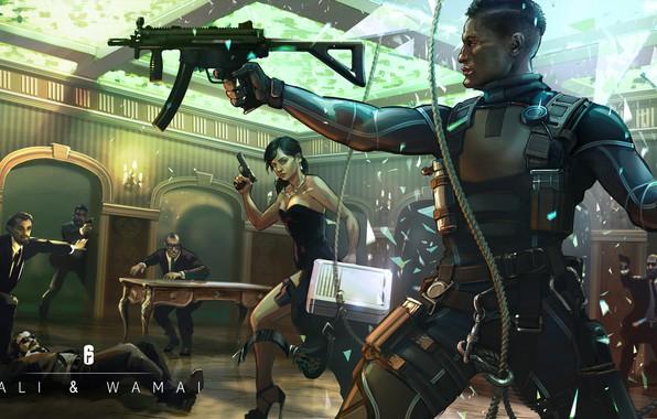Picture gun, weapons, art, art, Ubisoft, special forces, mp5, mercenaries, the gun, Tom Clancy's Rainbow Six …