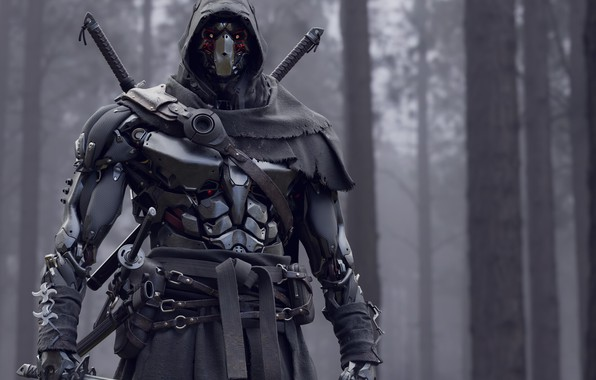 Picture weapons, sword, warrior, soldiers, armor, Cyborg