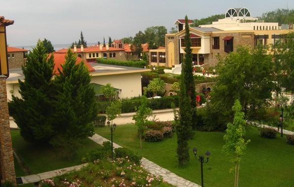 Picture Trees, Greece, Park, Park, Greece, Trees, Halkidiki, Villas, Halkidiki, Виллы