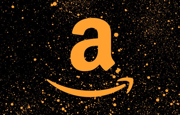 Picture background, logo, logo, black, orange, fon, amazon, Amazon