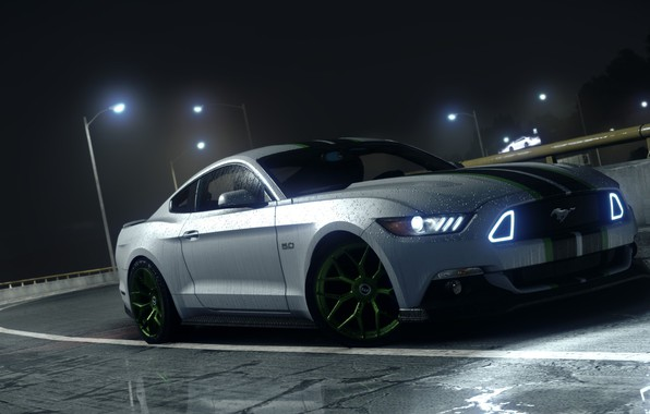 Picture night, need for sped payback, Ford Mustang GTR, the road drops
