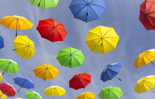 Picture France, umbrellas, The Hautes-Alpes