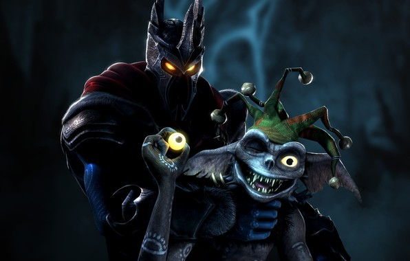 Picture eyes, jester, minion, Lord, Overlord 2