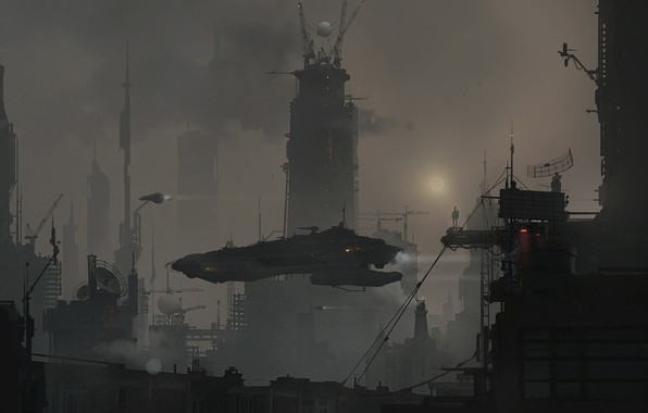 Picture The city, Future, Building, City, Art, Beijing, Fiction, Beijing, Science Fiction, Bei Jing, Beijing 2070